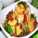 青椒土豆盖浇饭